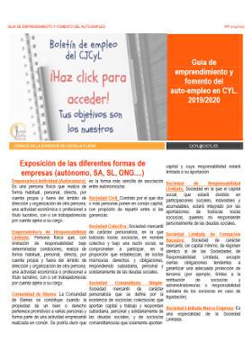 I Guía de emprendimiento y fomento del auto-empleo en CyL. 2019/2020
